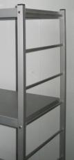 Regalständer Aluminium Breite 500mm x Höhe 1650mm