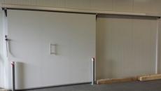 Kühlraumschiebetür in RAL 9002 1,00m x 2,10m
